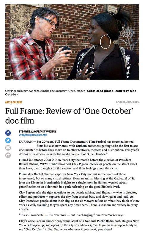 One October review